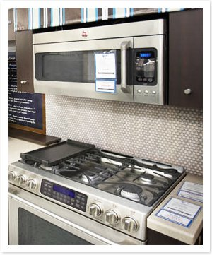 silver range and microwave